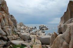 Capo Testa, Sardinige stock afbeeldingen