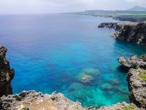Capo Umahana nell'isola di Yonaguni Fotografie Stock Libere da Diritti
