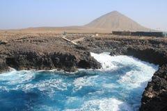 Capo Verde-Salzinsel Buracona-Bucht stockfoto