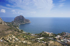 Capo Zafferano. View of Capo Zafferano, From Solunto Stock Image
