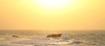 Capo Zampa di tramonto dell'oceano Fotografie Stock