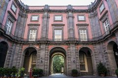 Capodimonte Art Museum nacional, Nápoles, Italia fotografía de archivo