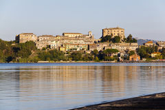 Capodimonte -  Bolsena Italy. Capodimonte is a town in the Province of Viterbo, Lazio, central Italy, around 100 km  northwest  of Rome. It nestles on the coast Stock Photography