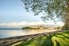 Capodimonte - Bolsena sjö - Viterbo - Lazio - Italien royaltyfri bild