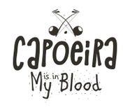 Capoeira战斗舞蹈 免版税库存照片