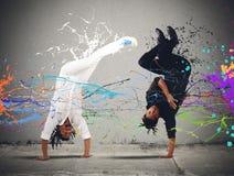 Capoeira战斗 库存照片