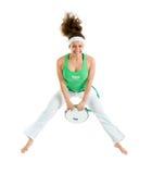 capoeira舞蹈演员摆在 免版税库存图片