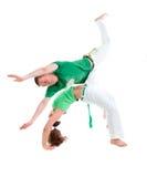 capoeira身体接触项目 免版税库存图片