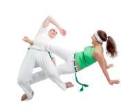 capoeira身体接触项目 图库摄影