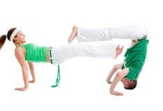 capoeira身体接触项目 库存照片