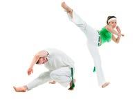 capoeira身体接触项目 免版税库存照片