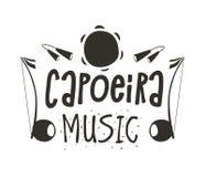 Capoeira音乐海报 免版税库存照片