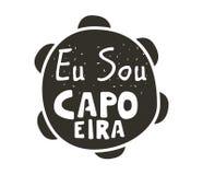Capoeira音乐海报 库存照片