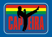 Capoeira. Colored background, and as far east of the sports guy who karete Stock Photography
