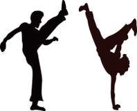 Capoeira. A illustration of capoeira dancers royalty free illustration