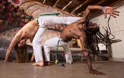 Capoeira踢 免版税库存图片