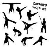 Διανυσματικό σύνολο capoeira Στοκ εικόνα με δικαίωμα ελεύθερης χρήσης
