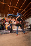 Capoeira Artists Flipping Royalty Free Stock Photo