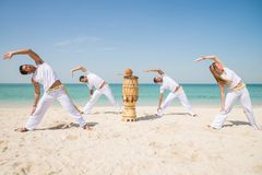 Capoeira athletes Stock Images