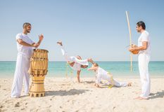 Capoeira athletes Royalty Free Stock Photo