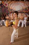 Capoeira Berimbau Musician with Friends royalty free stock images
