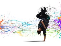 Capoeira dance Royalty Free Stock Image