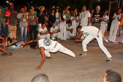 Capoeira dance and martial arts festival in Petrolina Brazil. People are fighting and dancing at the Capoeira dance and martial arts festival in Petrolina Brazil royalty free stock photography