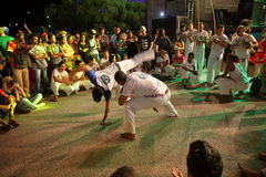 Capoeira dance and martial arts festival in Petrolina Brazil. People are fighting and dancing at the Capoeira dance and martial arts festival in Petrolina Brazil stock image