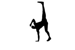Capoeira dancer Royalty Free Stock Image