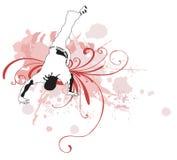 Capoeira dancer Stock Photography