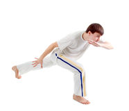 Capoeira dancer posing Royalty Free Stock Image