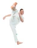 Capoeira dancer posing Stock Photo