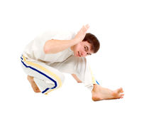 Capoeira dancer posing Stock Photography