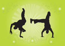 Capoeira dancers Royalty Free Stock Photos