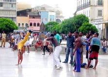Capoeira de Salvador da Bahia - Brésil Images libres de droits