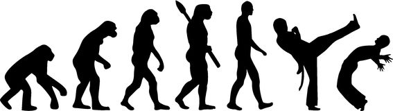 Capoeira Evolution Stock Image