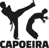 Capoeira fight with word Stock Photos