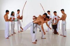 Capoeira Fighting Group Stock Image