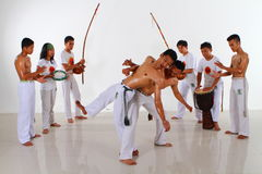 Capoeira Fighting Group Stock Image
