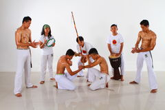 Capoeira Fighting Group Stock Photo