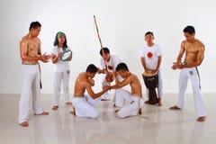 Capoeira Fighting Group Stock Photo