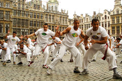 Capoeira on the Grand Place Royalty Free Stock Photo