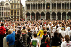 Capoeira on the Grand Place Stock Image