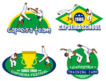 Capoeira logo set Stock Photos