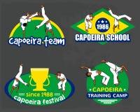 Capoeira logo set Stock Photo