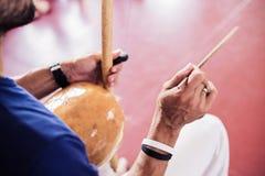 Capoeira musik Royaltyfri Foto
