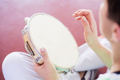Capoeira musik Arkivfoto