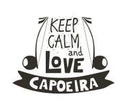 Capoeira musikaffisch Fotografering för Bildbyråer