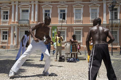 Capoeira performance at Salvador Brazil Royalty Free Stock Images