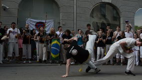 Capoeira performance Royalty Free Stock Photo